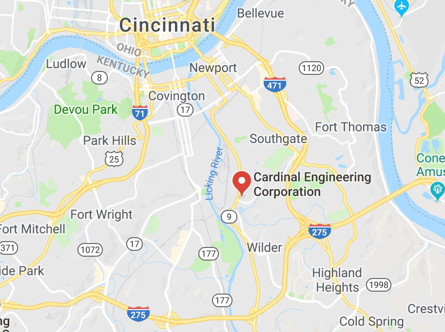 Cardinal Engineering Corporation Map